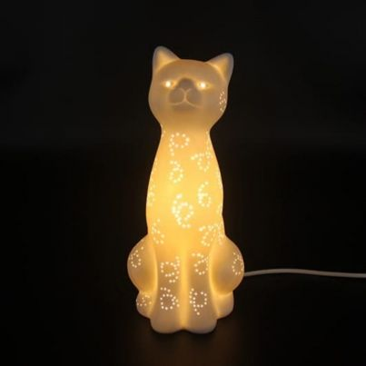 Lampe de table à poser ou lampe de chevet design chat